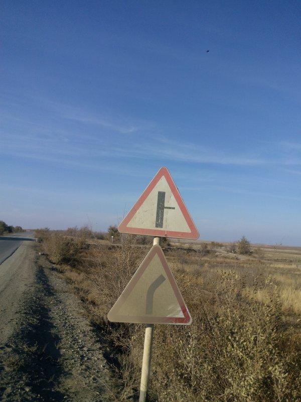 На дороге в оренбургской области